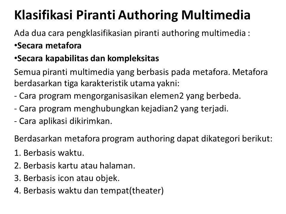 Klasifikasi Piranti Authoring Multimedia