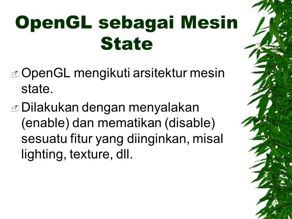 OpenGL sebagai Mesin State