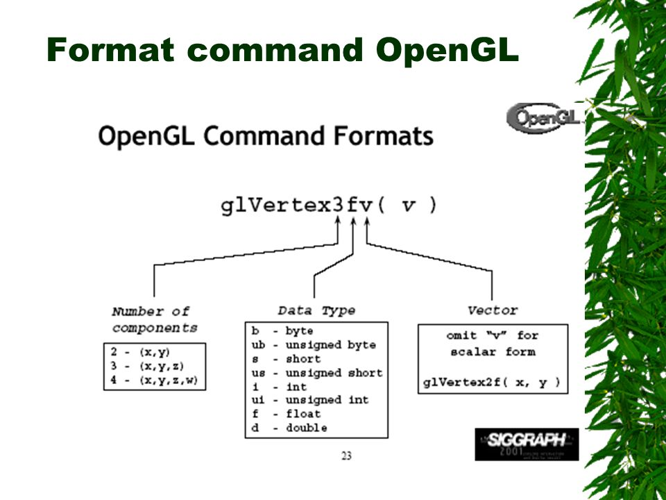 Format command OpenGL