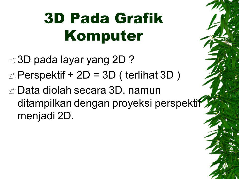 3D Pada Grafik Komputer 3D pada layar yang 2D