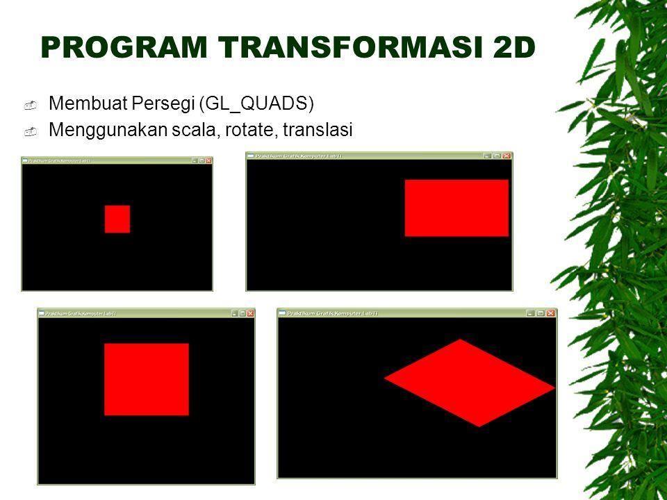 PROGRAM TRANSFORMASI 2D