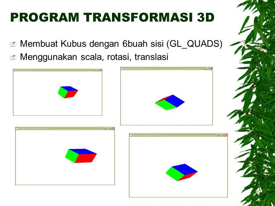 PROGRAM TRANSFORMASI 3D