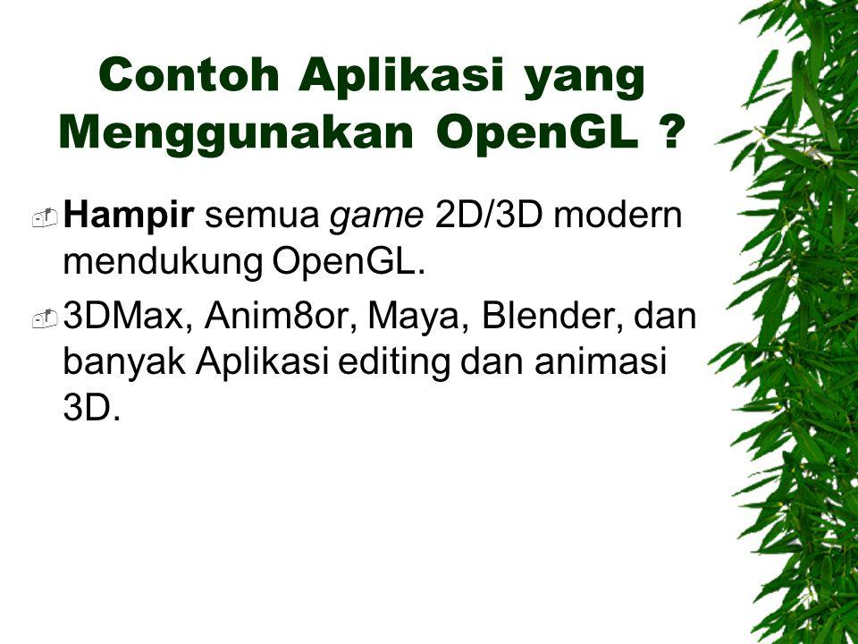 Contoh Aplikasi yang Menggunakan OpenGL