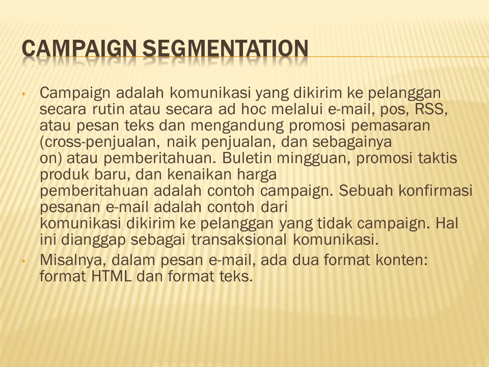 Campaign Segmentation