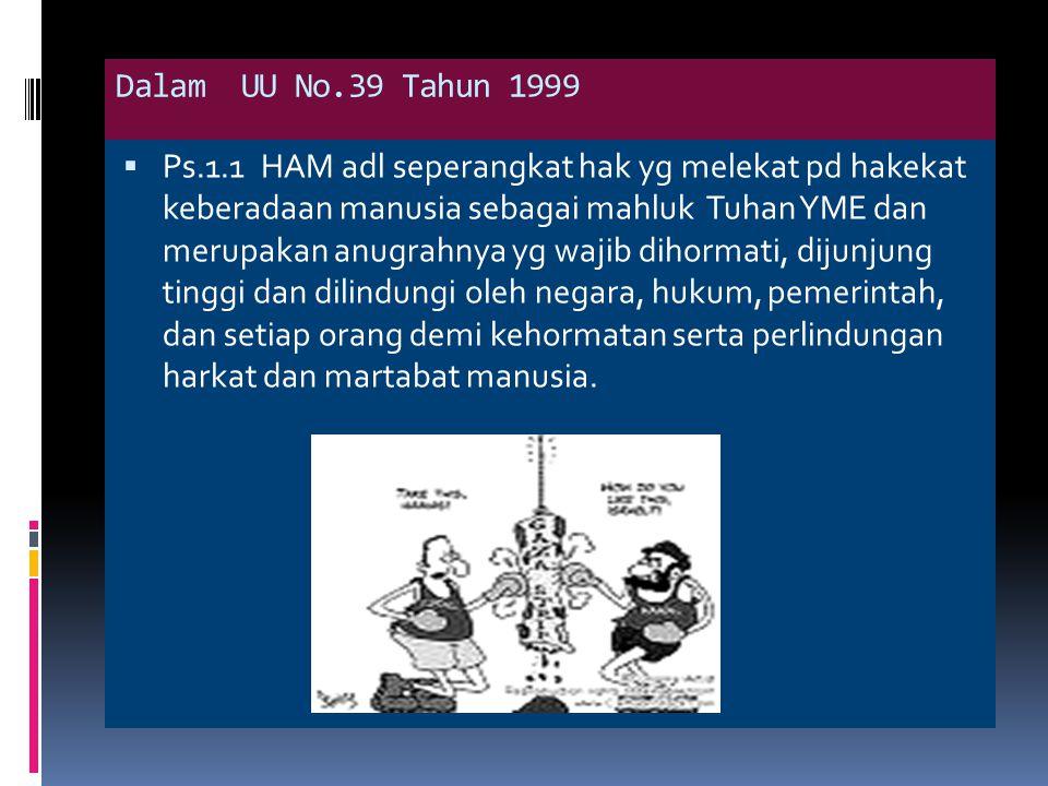 Dalam UU No.39 Tahun 1999