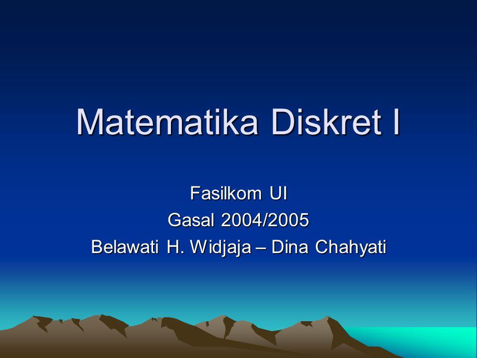 Fasilkom UI Gasal 2004/2005 Belawati H. Widjaja – Dina Chahyati