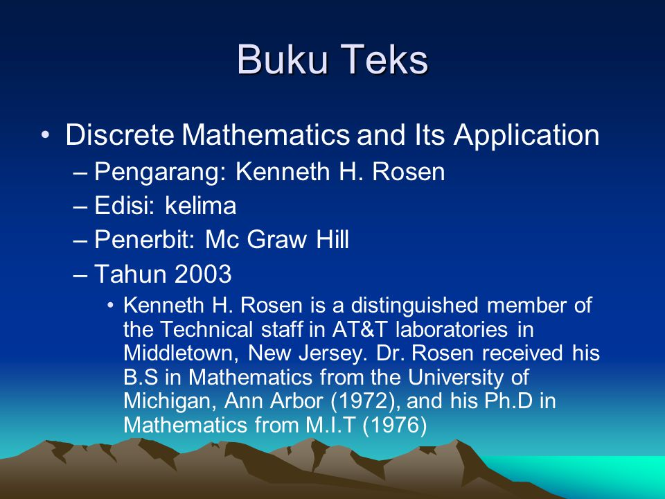 Buku Teks Discrete Mathematics and Its Application