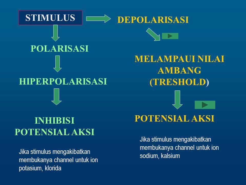 MELAMPAUI NILAI AMBANG (TRESHOLD) INHIBISI POTENSIAL AKSI