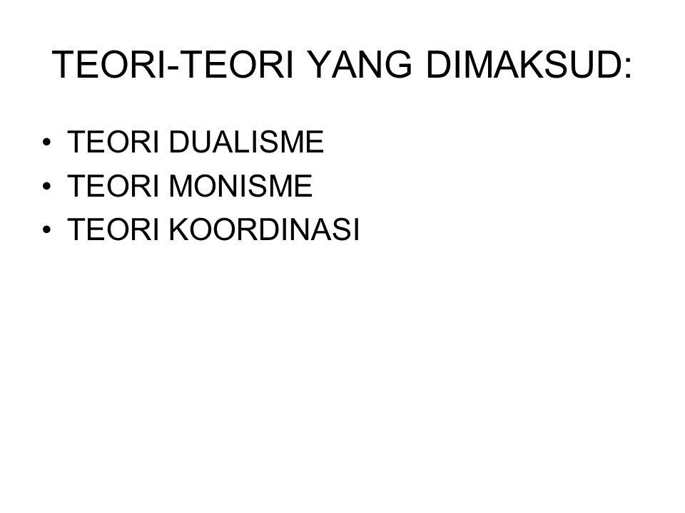 TEORI-TEORI YANG DIMAKSUD:
