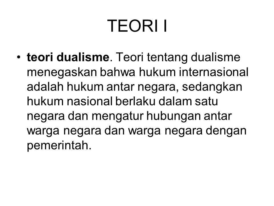 TEORI I