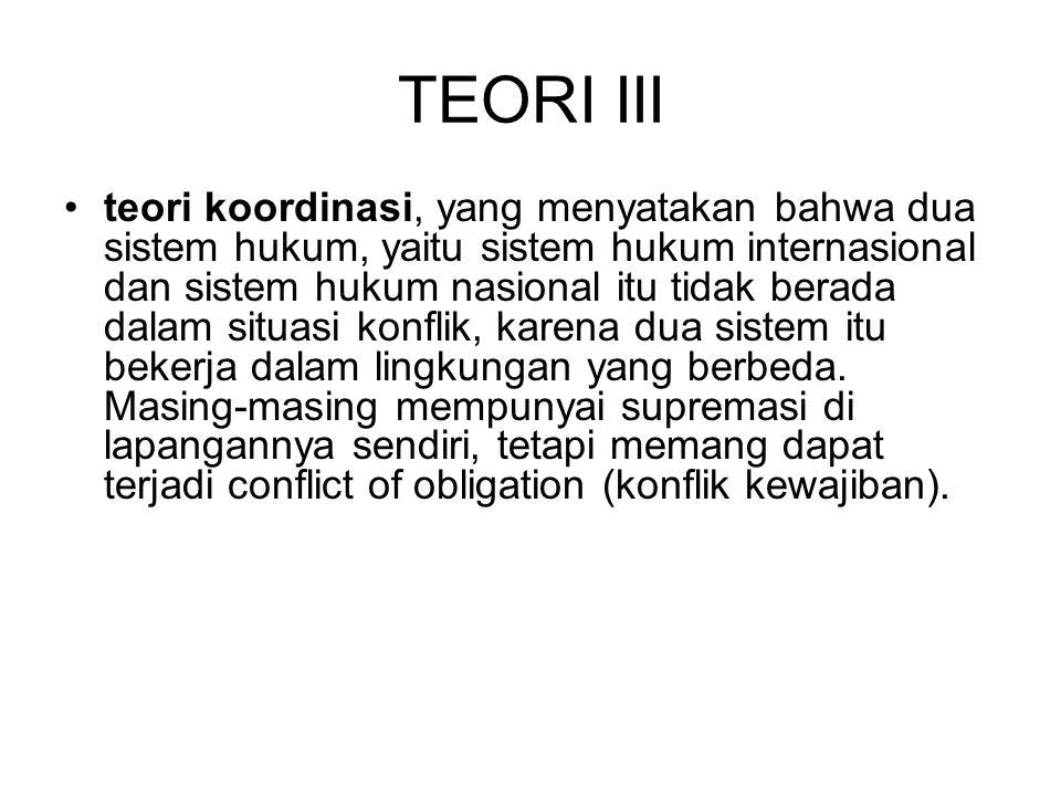 TEORI III