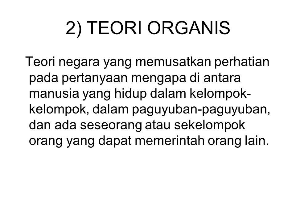 2) TEORI ORGANIS