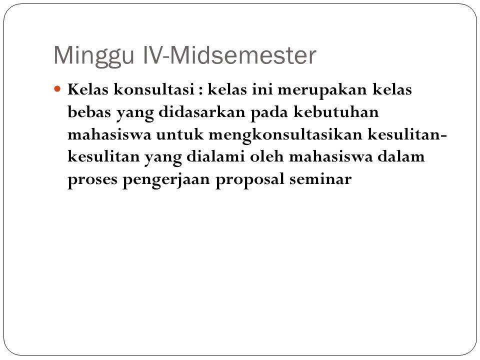 Minggu IV-Midsemester