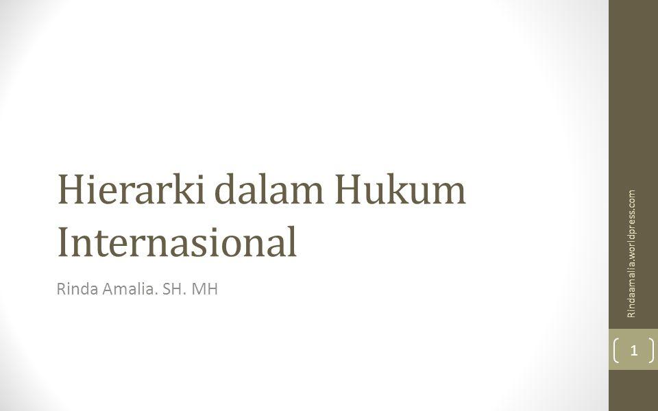 Hierarki dalam Hukum Internasional