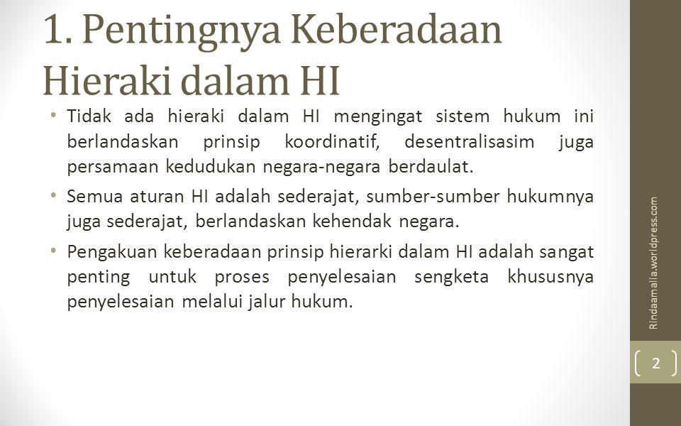 1. Pentingnya Keberadaan Hieraki dalam HI