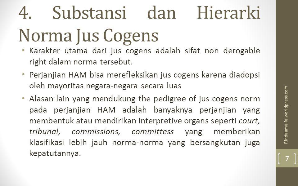 4. Substansi dan Hierarki Norma Jus Cogens