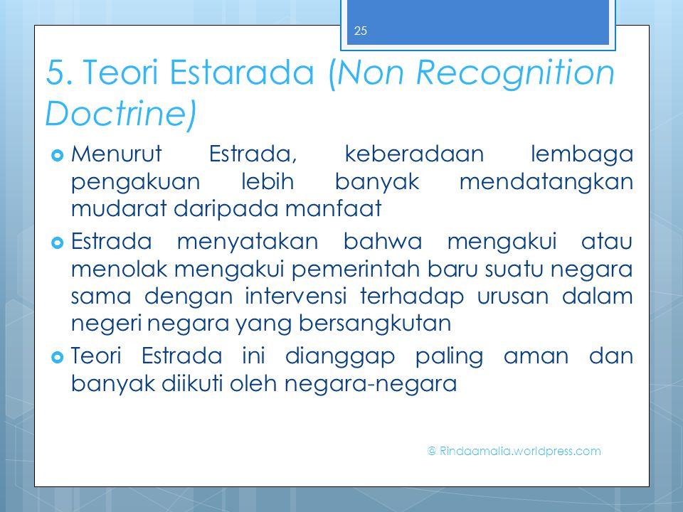 5. Teori Estarada (Non Recognition Doctrine)