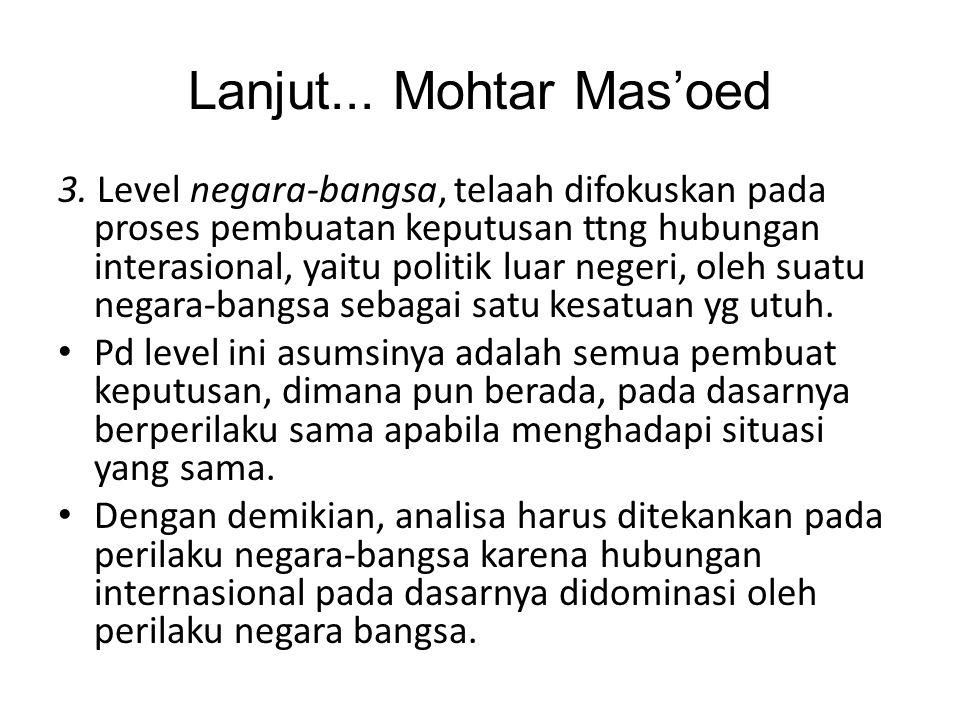 Lanjut... Mohtar Mas'oed