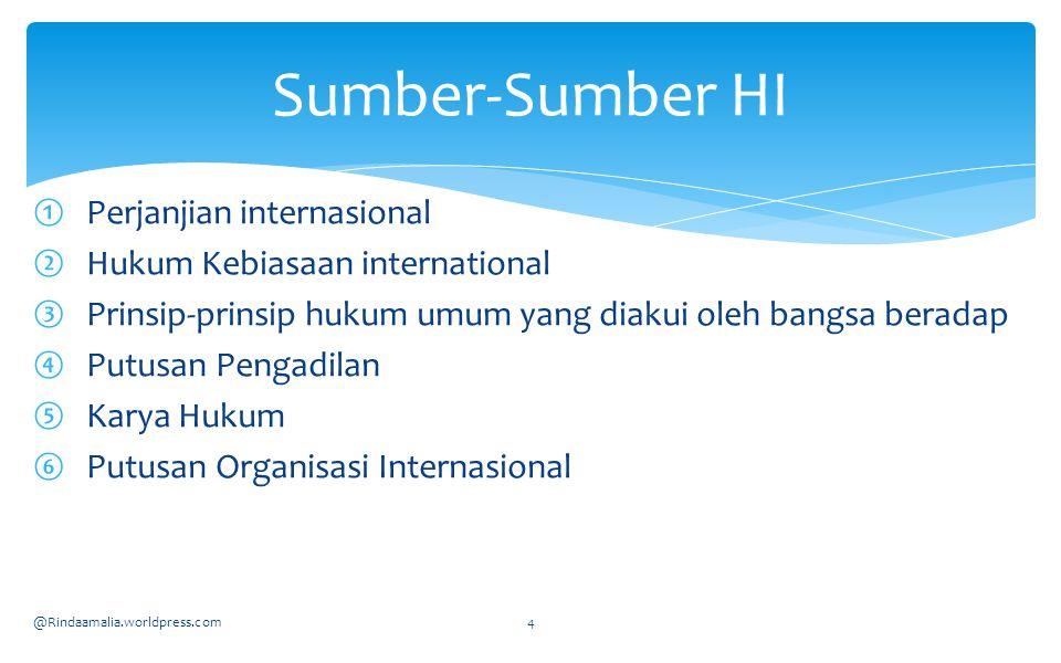 Sumber-Sumber HI Perjanjian internasional