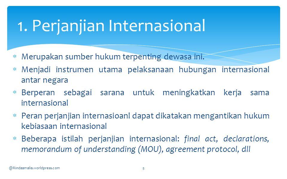 1. Perjanjian Internasional