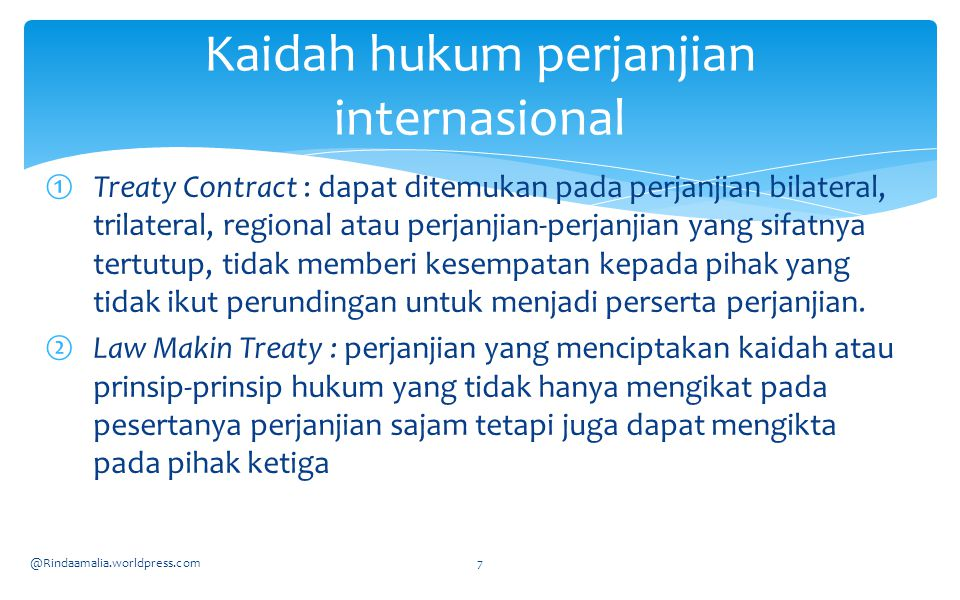 Kaidah hukum perjanjian internasional