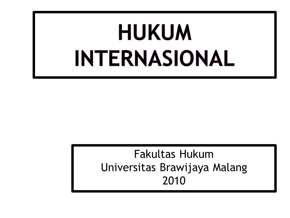 Fakultas Hukum Universitas Brawijaya Malang 2010