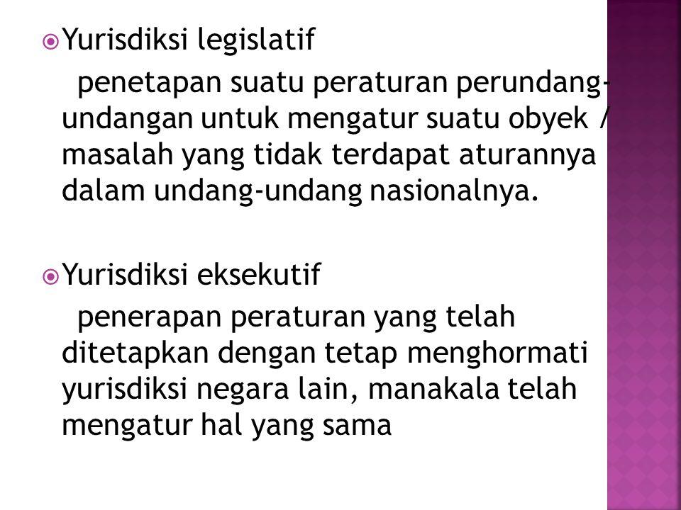 Yurisdiksi legislatif