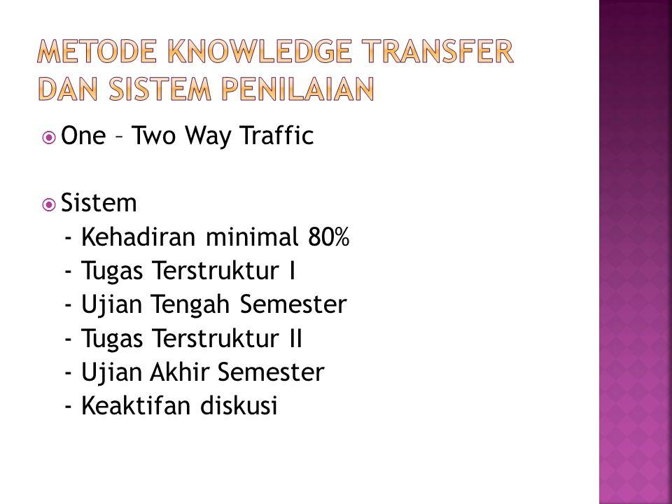 Metode Knowledge Transfer dan Sistem Penilaian