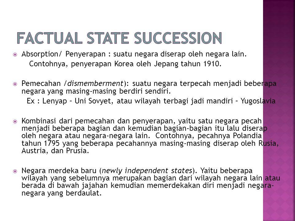 Factual State Succession