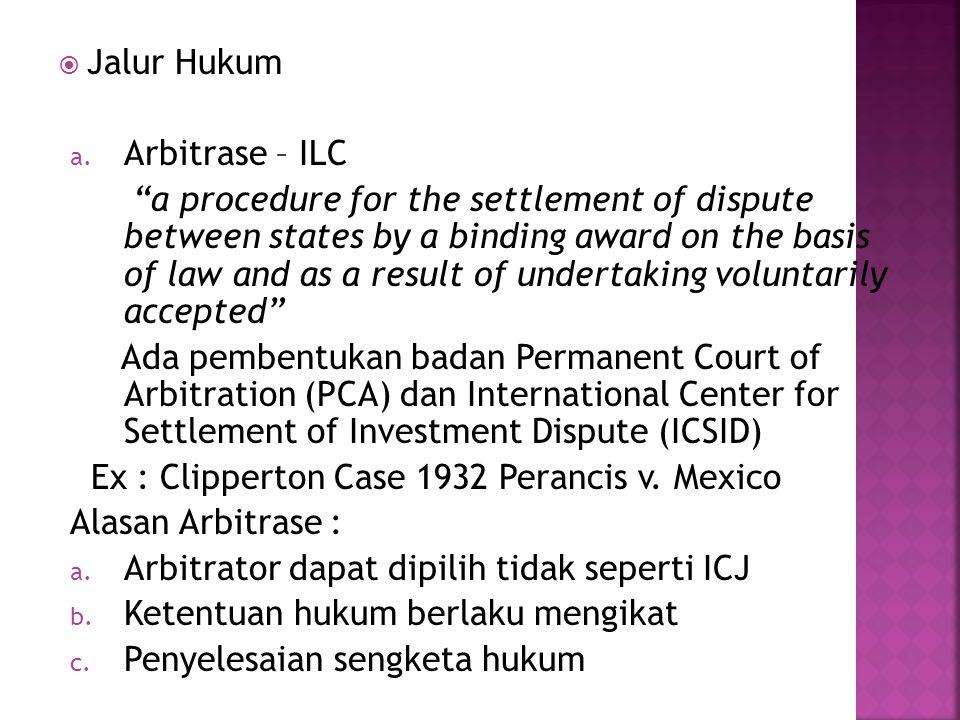 Jalur Hukum Arbitrase – ILC.