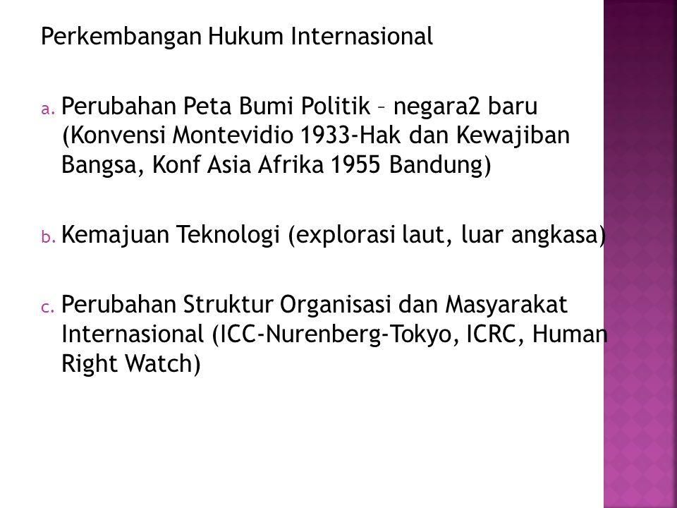 Perkembangan Hukum Internasional