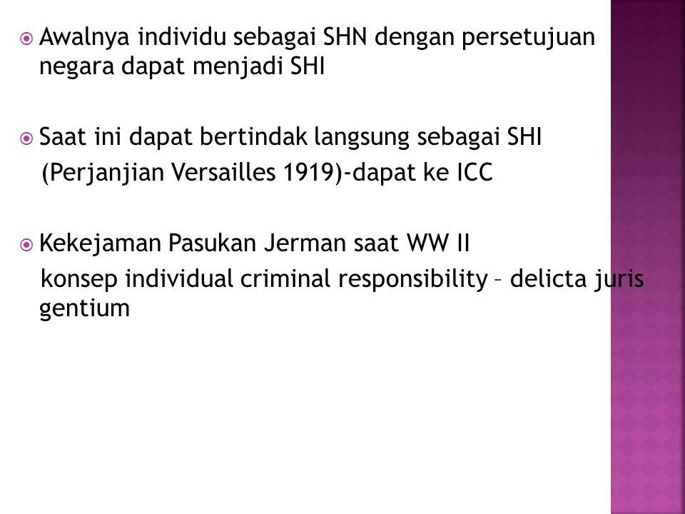 Awalnya individu sebagai SHN dengan persetujuan negara dapat menjadi SHI