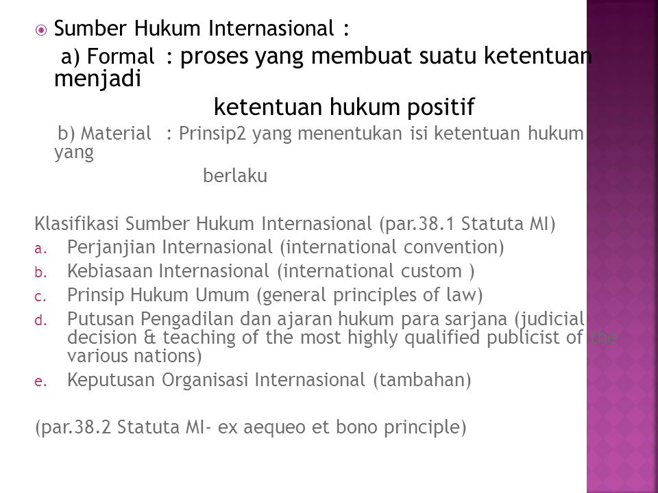 ketentuan hukum positif