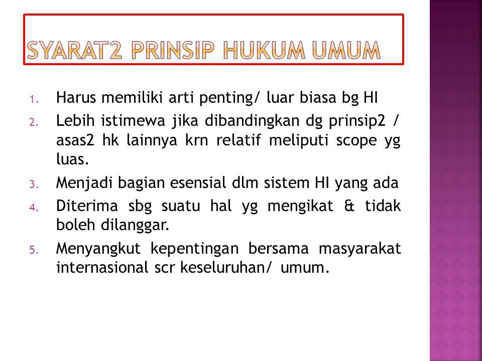 Syarat2 Prinsip Hukum Umum