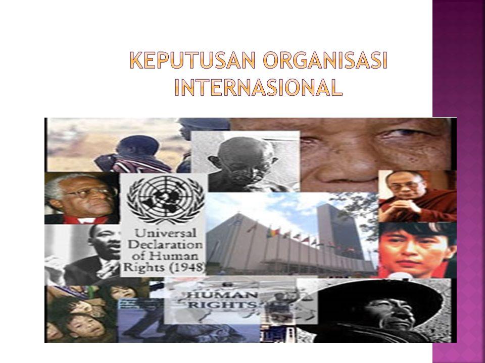 Keputusan Organisasi Internasional