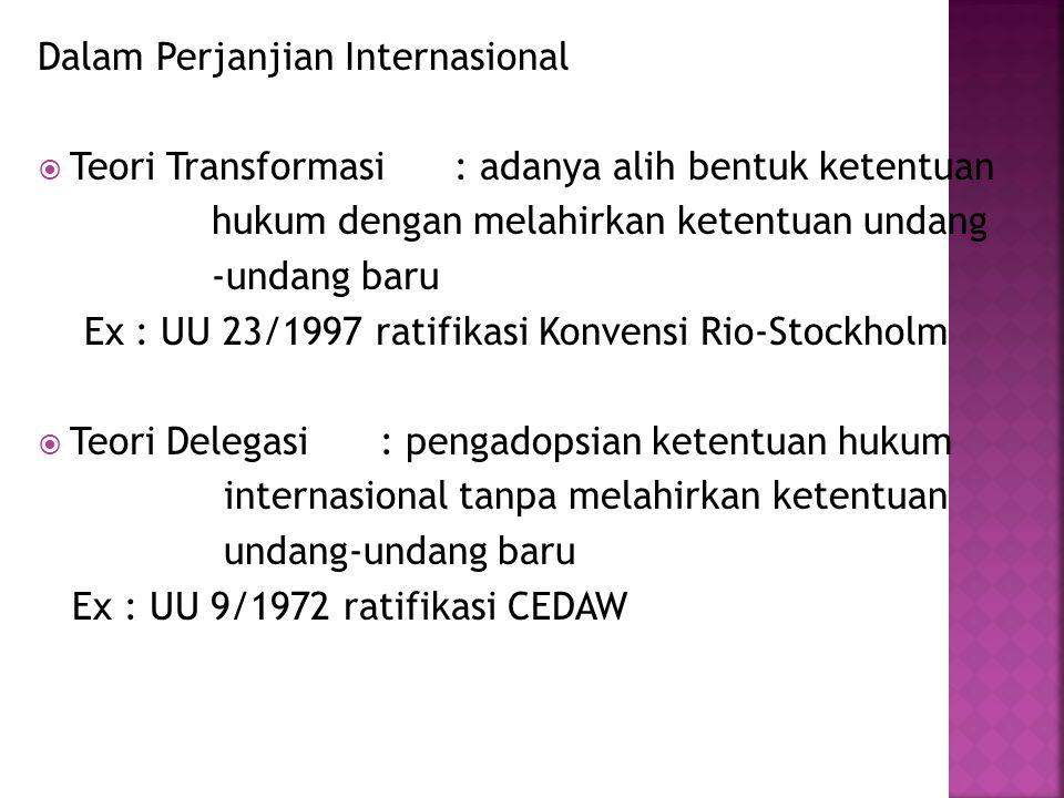 Dalam Perjanjian Internasional