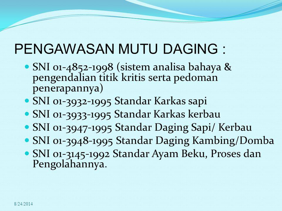 PENGAWASAN MUTU DAGING :