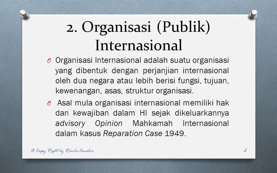 2. Organisasi (Publik) Internasional