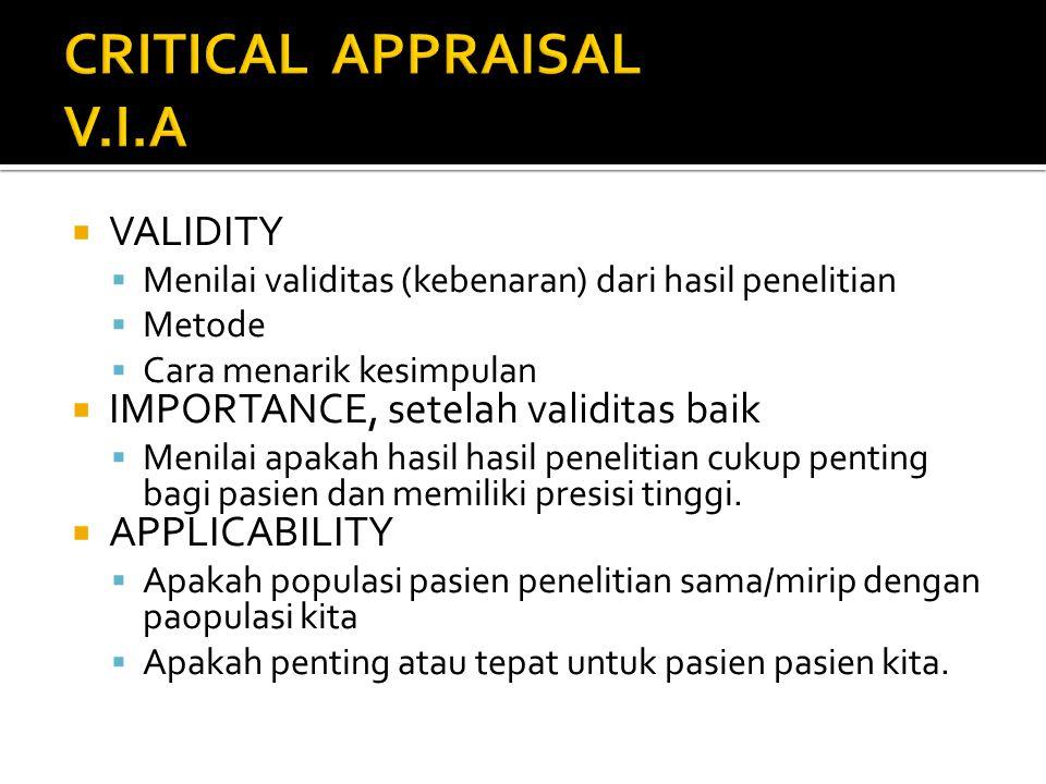 CRITICAL APPRAISAL V.I.A