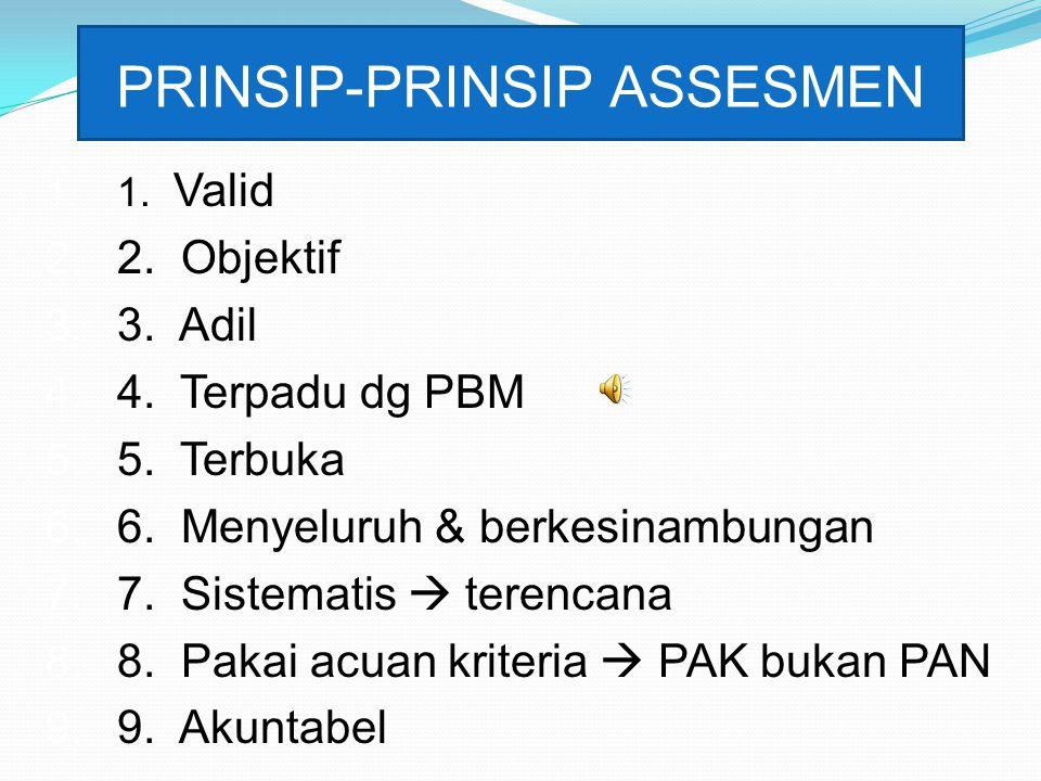 PRINSIP-PRINSIP ASSESMEN