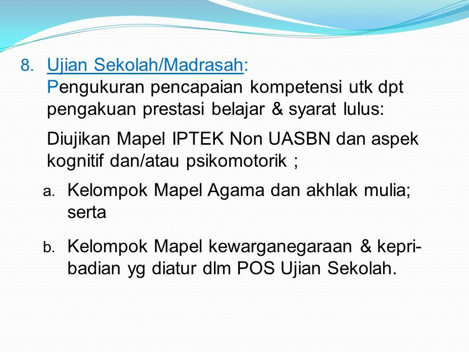 Ujian Sekolah/Madrasah: