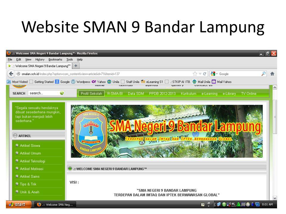 Website SMAN 9 Bandar Lampung