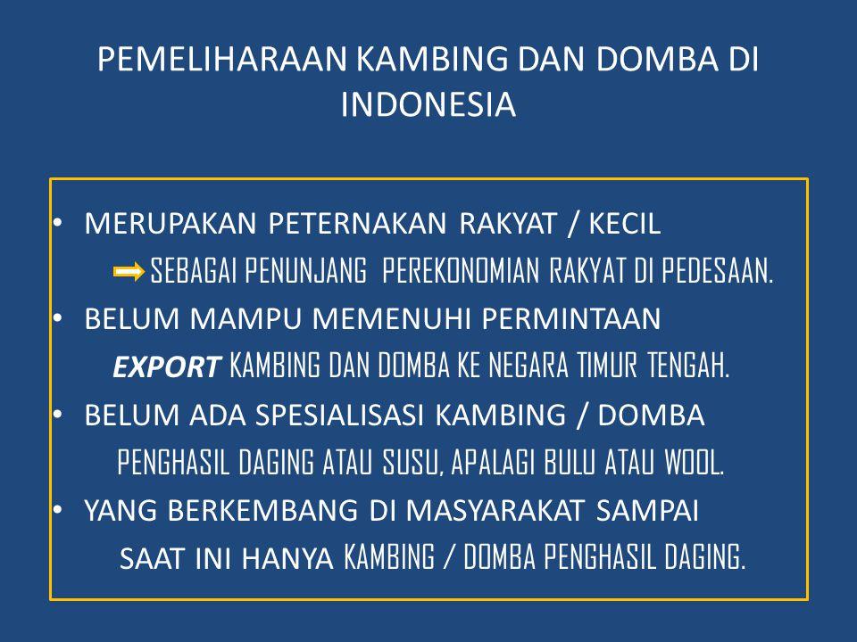 PEMELIHARAAN KAMBING DAN DOMBA DI INDONESIA