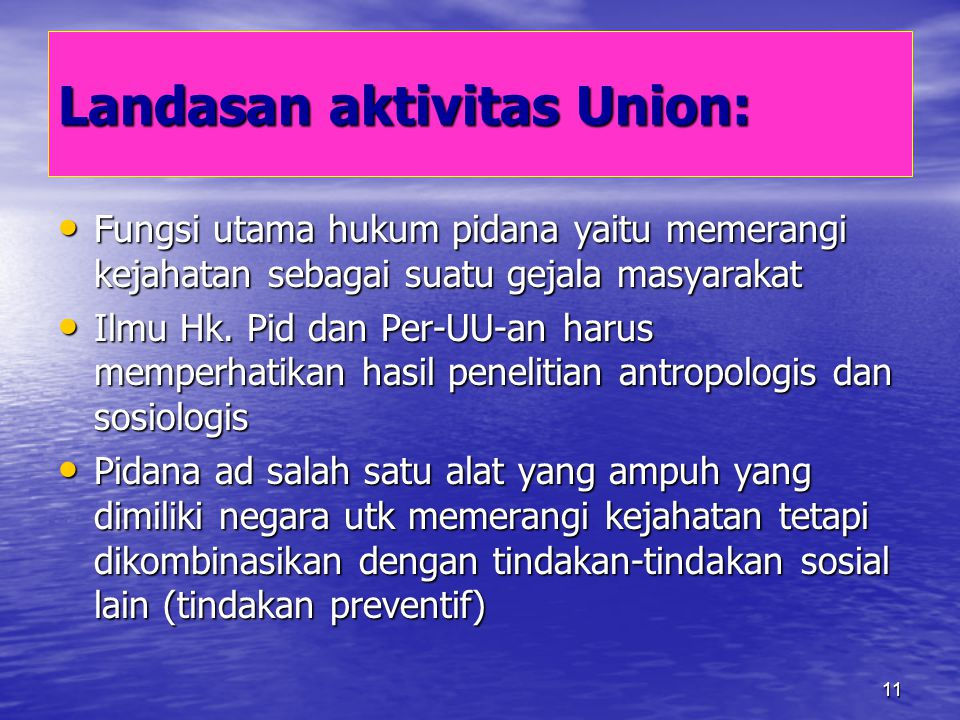 Landasan aktivitas Union: