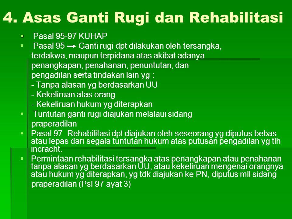 4. Asas Ganti Rugi dan Rehabilitasi