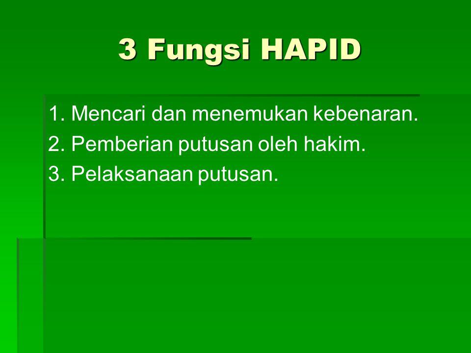 3 Fungsi HAPID 1. Mencari dan menemukan kebenaran.