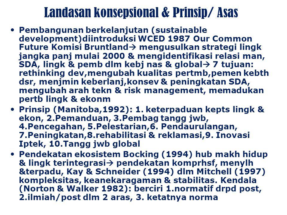 Landasan konsepsional & Prinsip/ Asas
