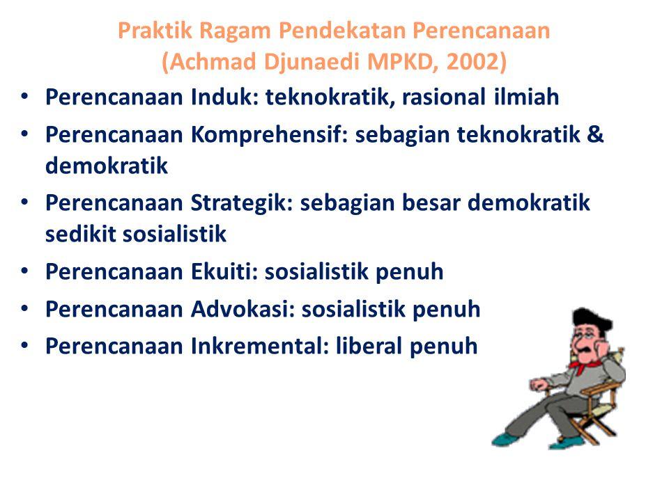 Praktik Ragam Pendekatan Perencanaan (Achmad Djunaedi MPKD, 2002)