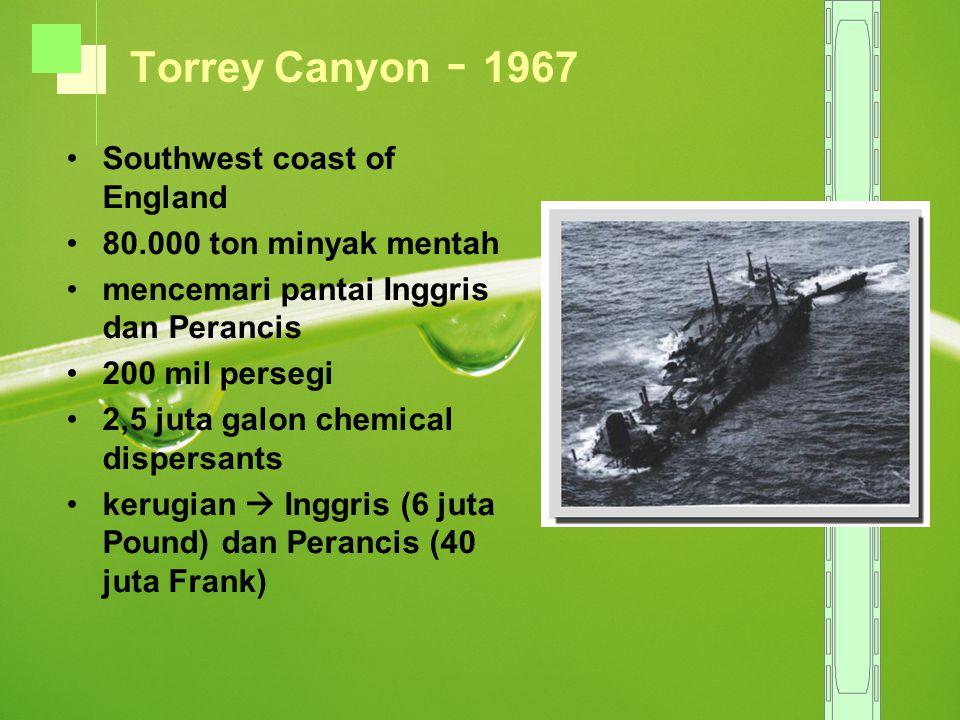 Torrey Canyon - 1967 Southwest coast of England