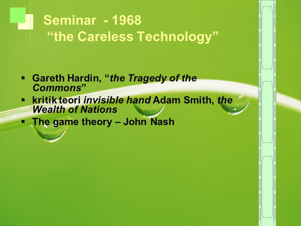 Seminar - 1968 the Careless Technology